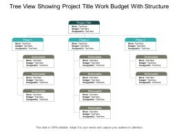 Tree View Showing Project Title Work Budget With Structure