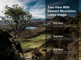 Tree View With Dessert Mountains Lakes Image