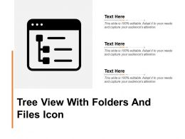 Tree View With Folders And Files Icon
