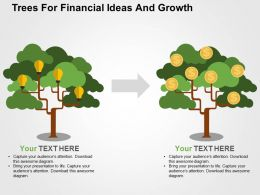 Trees For Financial Ideas And Growth Flat Powerpoint Design