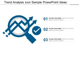 Trend Analysis Icon Sample Powerpoint Ideas