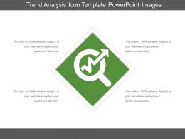 Trend Analysis Icon Template PowerPoint Images