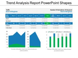 Trend Analysis Report PowerPoint Shapes