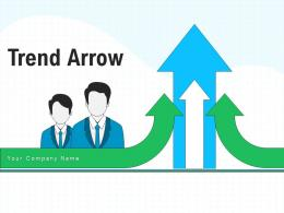 Trend Arrow Depicting Presenting Statistical Arrow Representing Fluctuations