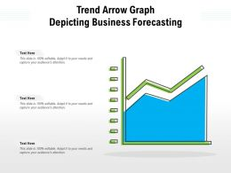Trend Arrow Graph Depicting Business Forecasting