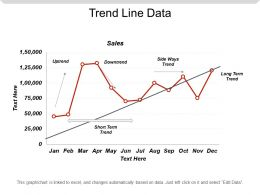 Trend Line Data Powerpoint Templates