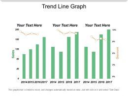 Trend Line Graph Powerpoint Ideas