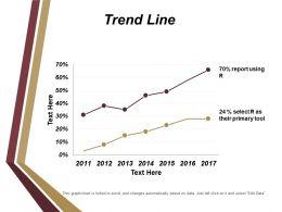 Trend Line Ppt Diagrams
