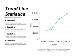 Trend Line Statistics Powerpoint Show