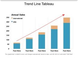 Trend Line Tableau Powerpoint Slide