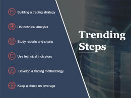Trending Steps Sample Presentation Ppt