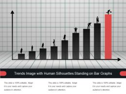 Trends Image With Human Silhouettes Standing On Bar Graphs