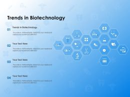Trends In Biotechnology Ppt Powerpoint Presentation Infographic Template Smartart