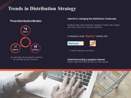 Trends In Distribution Strategy Ppt Powerpoint Presentation Model Backgrounds