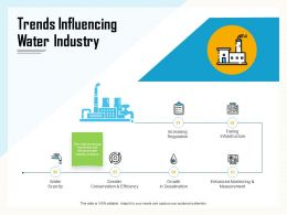 Trends Influencing Water Industry Growth Ppt Powerpoint Presentation Layouts Structure