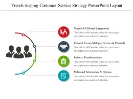 Trends Shaping Customer Service Strategy Powerpoint Layout