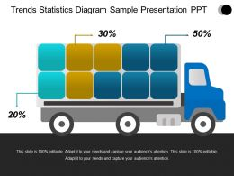 Trends Statistics Diagram Sample Presentation Ppt