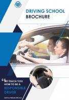 Trendy Driving Training School Four Page Brochure Template