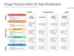 Triage Process Matrix For Task Prioritization