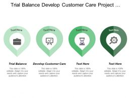 Trial Balance Develop Customer Care Project Planning Control