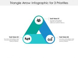 Triangle Arrow Infographic For 3 Priorities