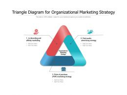 Triangle Diagram For Organizational Marketing Strategy
