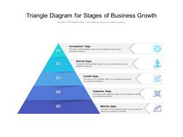 Triangle Diagram For Stages Of Business Growth