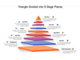 Triangle Divided Into 9 Stage Pieces
