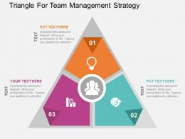 Triangle For Team Management Strategy Flat Powerpoint Design