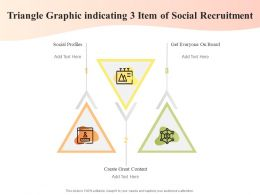 Triangle Graphic Indicating 3 Item Of Social Recruitment