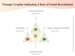 Triangle Graphic Indicating 4 Item Of Social Recruitment
