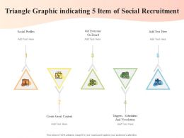Triangle Graphic Indicating 5 Item Of Social Recruitment