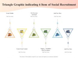 Triangle Graphic Indicating 6 Item Of Social Recruitment