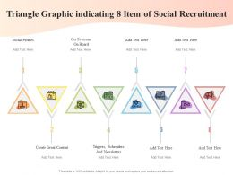Triangle Graphic Indicating 8 Item Of Social Recruitment