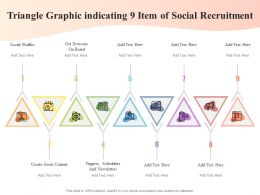 Triangle Graphic Indicating 9 Item Of Social Recruitment