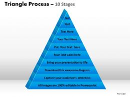 triangle process 10 stages powerpoint slides and ppt templates 0412
