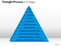 triangle process 11 stages powerpoint slides and ppt templates 0412