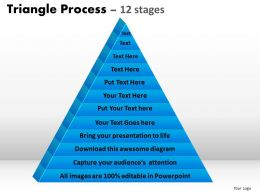 triangle process 12 stages powerpoint slides and ppt templates 0412
