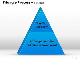 triangle process 2 stages powerpoint slides and ppt templates 0412