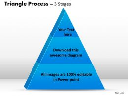 triangle process 3 stages powerpoint slides and ppt templates 0412