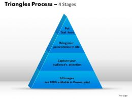 triangle process 4 stages powerpoint slides and ppt templates 0412