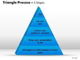 triangle process 5 stages powerpoint slides and ppt templates 0412
