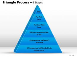 triangle process 6 stages powerpoint slides and ppt templates 0412