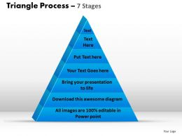 triangle process 7 stages powerpoint slides and ppt templates 0412