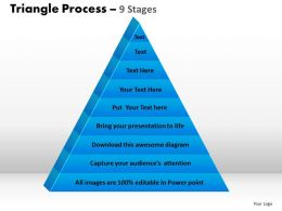 triangle process 9 stages powerpoint slides and ppt templates 0412