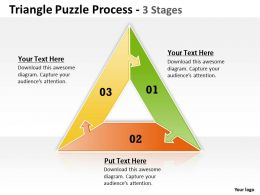 Triangle Puzzle Process 3 Stages