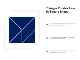 Triangle Puzzles Icon In Square Shape