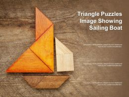 Triangle Puzzles Image Showing Sailing Boat