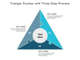 Triangle Puzzles With Three Step Process