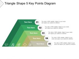 Triangle Shape 5 Key Points Diagram